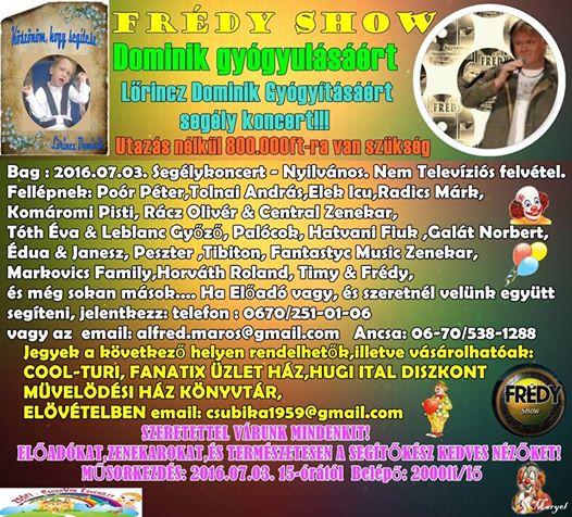 Frédy Show Bag 2016.07.03.